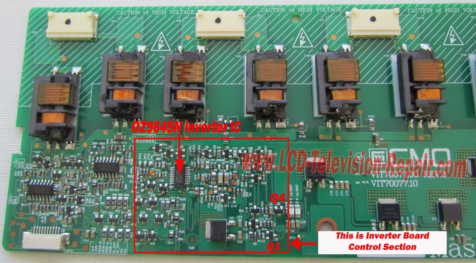 fix lcd inverter board