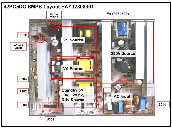 LG 42PC5DC Plasma TV Switch Mode Power Supply Operation and ...